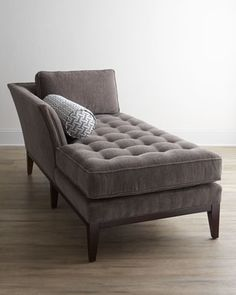 """Chandelle"" Chaise by Vanguard at Horchow. Grab a book and relax. inexpensive chaise lounge chairs Gone are the days when decoratin. Living Room Grey, Living Room Sofa, Living Room Furniture, Living Room Decor, Couch For Bedroom, Chaise Lounge Bedroom, Dining Room, Sofa Design, Interior Design"
