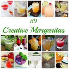 A roundup of new and unusual margarita recipes to celebrate Cinco De Mayo!
