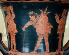 Very rare Ancient Greek Campanian Krater with Actors       Very rare Ancient Greek Campanian Krater with Actors       Three men robbin...