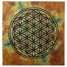 "Flower of LIfe Cloth Napkin Cloth Napkin 20""x20"" - diy cyo customize personalize design"