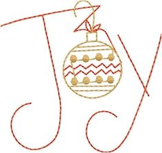 Joy Ornament, 2 Sizes - Yours FREE! | FREE | Machine Embroidery Designs | SWAKembroidery.com