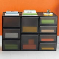 Our Like-it® Smoke Stacking Drawers can be used to create a customizable solution for all your crafts and supplies!