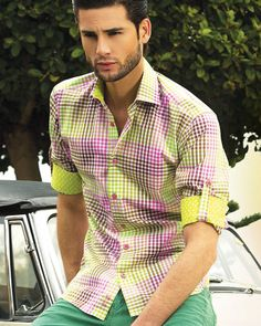 Bertigo Shirt - Monaco 52 - Designer shirt for men with floral pattern