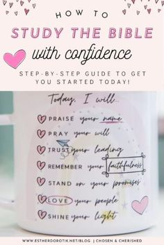 If you're feeling overwhelmed by studying the Bible, this 12 step guide help get you started studying with confidence. Learn how to read and understand Scripture like never before! Inductive Bible Study, Bible Software, Christian Resources, Bible Study Journal, Fresh Market, Praise God, Feeling Overwhelmed, Christian Living, Learn To Read