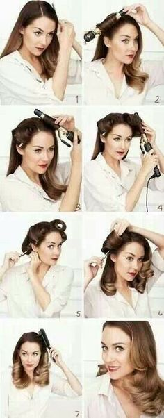 Omg I've always wanted to know how to do this! Romantic pin up look.
