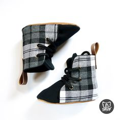 Grey Plaid Soft Sole Baby and Toddler Hightop Shoes handmade in New Zealand Toddler Sneakers, Toddler Shoes, Kid Shoes, Toddler Fashion, Kids Fashion, Hightop Shoes, Boxing Boots, Baby Boots, Baby Feet