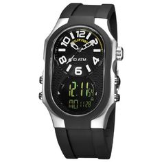 Philip Stein Men's 3RB-AD-RB Signature Black Plated Chronograph Black Rubber Strap Watch   Your #1 Source for Watches and Accessories