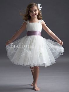 Tulle with satin belt