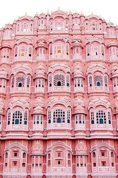 Palace of the Winds or Pink Palace, Jaipur, India. Beautiful pink building with fantastic architecture and a rose colored facade. Oh The Places You'll Go, Places To Travel, Travel Destinations, Beautiful World, Beautiful Places, Pink Palace, Beautiful Buildings, Colourful Buildings, Belle Photo