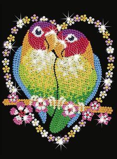 Sequin Art Love Birds SA1002 KSG   Hobbies