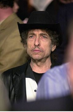 Jan 2000 Bob Dylan is settled in his ringside seat before the start of the Felix Trinidad William Joppy WBA middleweight title bout at Madison Square...