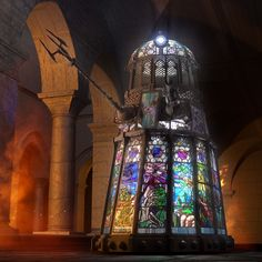 Bringing the stained glass Dalek to life...