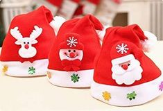 9becd9ca6b7a1 Feel The Spirit Nativity with 3 Pack Funny Christmas Hats Santa hat  fashion   clothing
