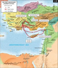 Map - Apostle Paul First Missionary Journey (.png)