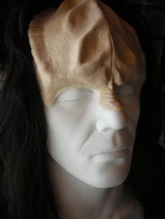 Klingon Warrior Forehead  Apply this foam latex appliance sculpted by Tim Vittetoe to create the most realistic Klingon warrior. You can reuse this prosthetic several times with proper care (ask us how!). Qapla'!