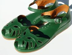 """Our super comfortable low wedge sandal with a """"cushion crepe"""" style sole, plus…"""