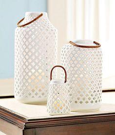Lanternas de vela em porcelana