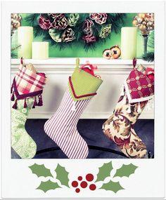 Home Decor #wreath & fabric stockings! #DIY #holiday
