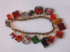 Super Mario and Other Video Game Charm Bracelets