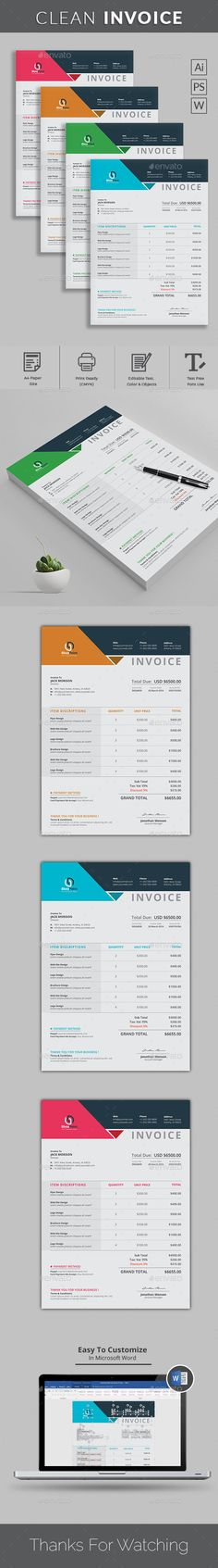 Invoice Template, Web design tutorials and Logos - web design invoice
