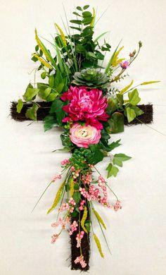 Grave Flowers, Cemetery Flowers, Church Flowers, Funeral Flowers, Funeral Floral Arrangements, Easter Flower Arrangements, Easter Flowers, Cemetary Decorations, Funeral Sprays