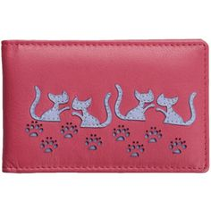Mala Leather Poppy Cat Leather ID Holder £14.00 available from www.kubi.co.uk