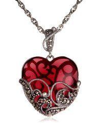 colored glass heart necklace, amazon.com