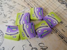 Polymer Clay Beads by TLS Clay Design by TLSClayDesign on Etsy, $6.29