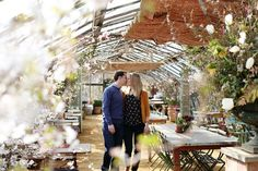 Lorna & Mat's Pretty Petersham Engagement Shoot at Petersham Nurseries // Dasha Caffrey