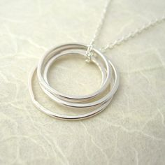 Quatre Necklace - handcrafted sterling silver circles and silver chain #handmade #jewellery #jewelry #silver #necklace