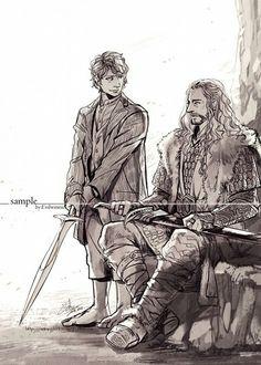 King Thorin and (consort) Bilbo Baggins
