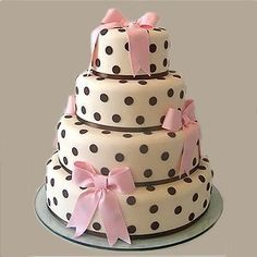 Ever thought of having a polka dot wedding cake for your wedding day reception for you and your guests? This is a cute, non traditional Wedding cake design. Pretty Cakes, Cute Cakes, Beautiful Cakes, Amazing Cakes, Fondant Cakes, Cupcake Cakes, Little Girl Birthday Cakes, Purple Birthday, 23rd Birthday