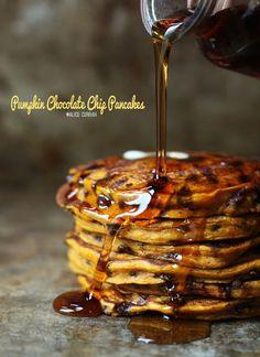 Pumpkin-Spice-Chocolate-Chip-Pancakes