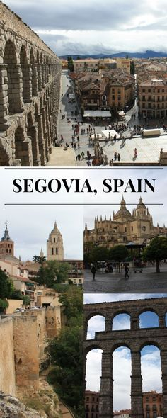 Segovia is located about 100 Km from Madrid and it is a popular destination for a day trip from the capital. It is a UNESCO world heritage site and it is famous, among other things, for an impressive Roman aqueduct and the Alcazar, Segovia's castle. In th