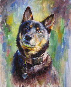 Kane 22x18   Custom pet portraits by Michael Bellotti bellottiart.com