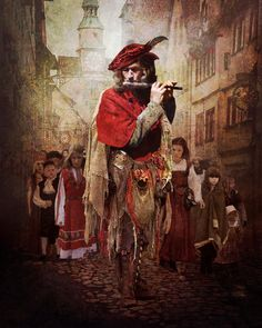 The Pied Piper of Hamelin.  This creepy German poem teaches a hard moral lesson, using a sinister sorcerer-like musician who doesn't suffer Deadbeats, and demands to be repaid for his services tenfold.