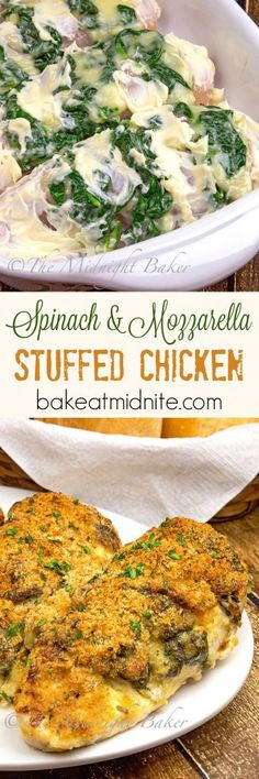 Tender chicken breast stuffed with spinach and mozzarella cheese. Easy to make!