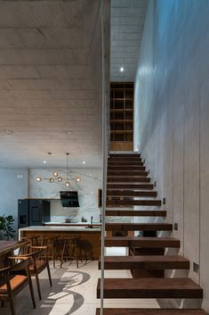 Connecting Spaces of this Tube House has Sky-Lights that Connects its People to the Nature | AD9 Architects - The Architects Diary Level Homes, 2020 Design, Furniture Companies, Minimalism, Tube, Sweet Home, Stairs, House Design, Sky