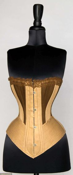 Augusta Auctions, April 17, 2013 - NYC: Two-tone Spoon Busk Corset, 1875-1895