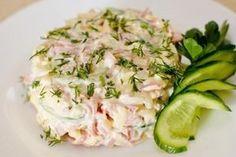 Вкусный салат с ветчиной и сыром Ингредиенты: Ветчина — 300 г Сыр твердых…