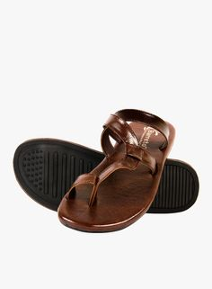 7837f1b70abc68 Buy Barreto Brown Sandals for Men Online India