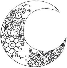 Best Embroidery Designs By Hand Modern Urban Threads Ideas Moon Coloring Pages, Adult Coloring Book Pages, Printable Adult Coloring Pages, Mandala Coloring Pages, Coloring Books, Embroidery Transfers, Hand Embroidery Designs, Embroidery Patterns, Urban Threads