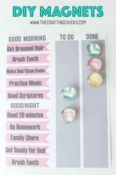 DIY Magnets are so easy to make and coordinate with your home decor. A great craft for kids and crafters of any skill level.