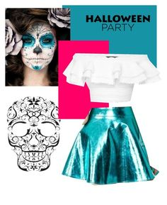 #sugerskull#dayofthedead  by alixreynolds on Polyvore featuring polyvore, fashion, style and Alexander McQueen