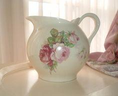 water pitcher roses Societe Ceramique Maestricht