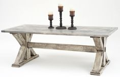 Reclaimed Wood Dining Table - Old World Design #1 - Handcrafted From Solid Wood - Item #DT00179 - 12 Standard Color Options - Custom Sizes - Distressed or Smooth Finishes Available