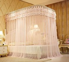 XH H&C Summer and autumn bedroom grade pure luxury of nets to mosquito-proof stainless steel u-shaped rail net Dream Rooms, Dream Bedroom, Wedding Room Decorations, Royal Bedroom, Drapes And Blinds, Dreams Beds, Luxury Bedding Collections, Home Room Design, Fashion Room