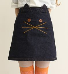 DIY Inspiration - a kitty cat skirt