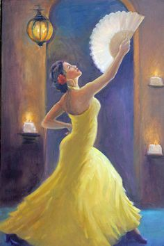 Candelight Castinetts Painting by Gwen Carroll