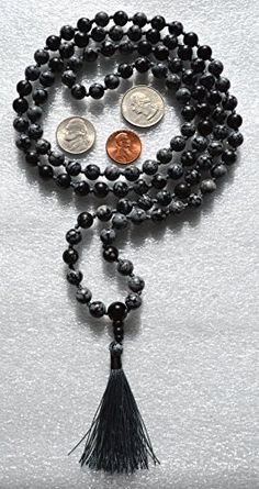 8 MM OBSIDIAN BLACK SNOWFLAKE PRAYER BEADS JAPA MALA NECKLACE-STRONGEST POSSIBLE HAND KNOTTED. BLESSED & ENERGIZED BEST GRADE GENUINE QUALITY (108+1) HINDU TIBETAN BUDDHIST PRAYER KARMA BEADS SUBHA ROSARY FOR VITALITY, NIRVANA, BHAKTI, FOR REMOVING INNER DOSHAS, FOR CHANTING AUM OM, FOR AWAKENING CHAKRAS, KUNDALINI THROUGH YOGA MEDITATION-FREE OM MALA POUCH WITH GIFT BOX AWAKEN YOUR KUNDALINI http://www.amazon.com/dp/B00Q4VOUHS/ref=cm_sw_r_pi_dp_i0a2vb13HN6YN